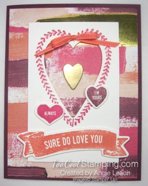 Sure do love you recessed hearts - razzleberry a