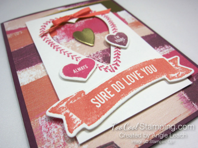 Sure do love you recessed hearts - powder 3