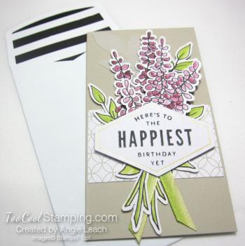 Lots of happy - narrrow note