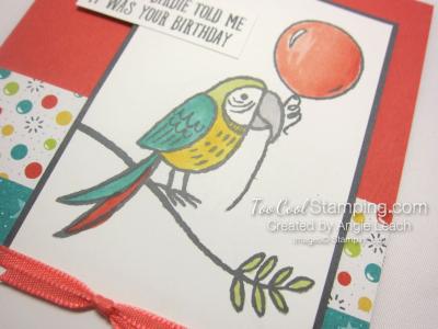Bird Banter Birthday Balloon - coral 3