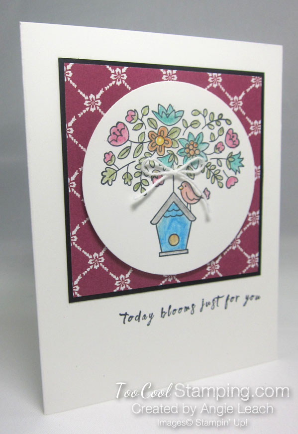 Flying Home Watercolor Bird House - berry