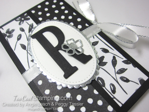 Petal Passion Monogram Note Holder - pad dots