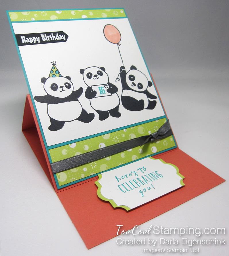 Darla party panda easel card