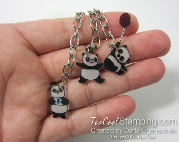 Darla party panda zipper pull 3