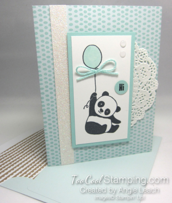 Party panda tutti frutti - soft sky