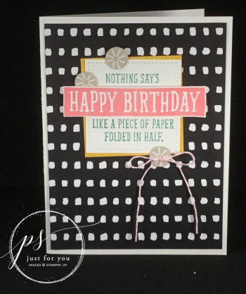 Birthday wit folded paper - wendy fee