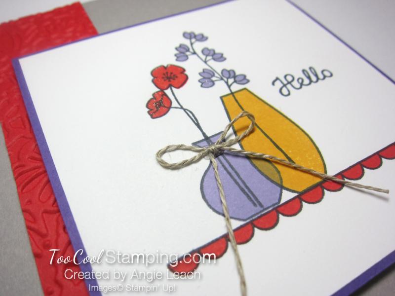 Varied vases hello - poppy & purple 3