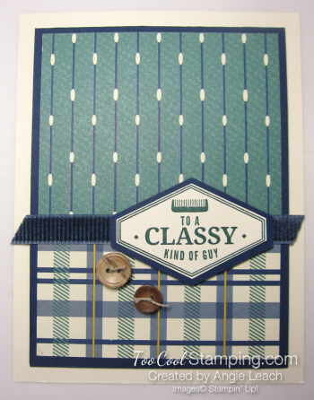 Classy plaid buttons 1