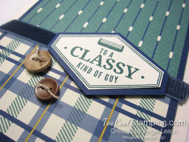 Classy plaid buttons 2