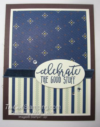 Celebrate good stripes rhinestones