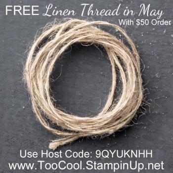 Linen thread thank you gift banner