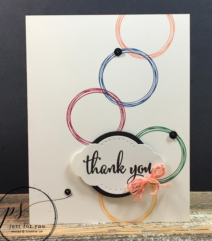 In Color Swirly Frames Card