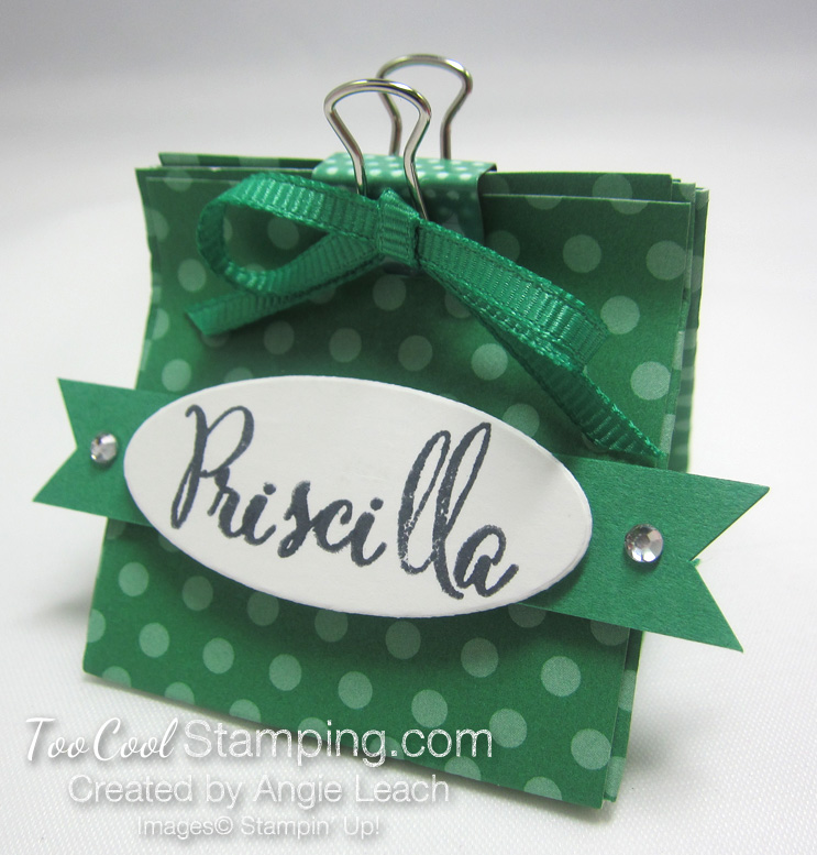 Mini Pouch With Binder Clip - clover