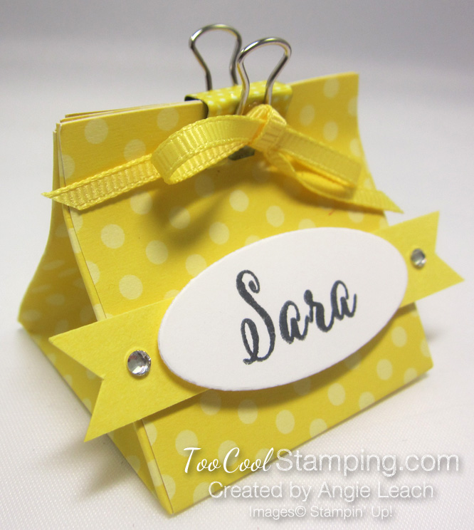 Mini Pouch With Binder Clip - pineapple dots
