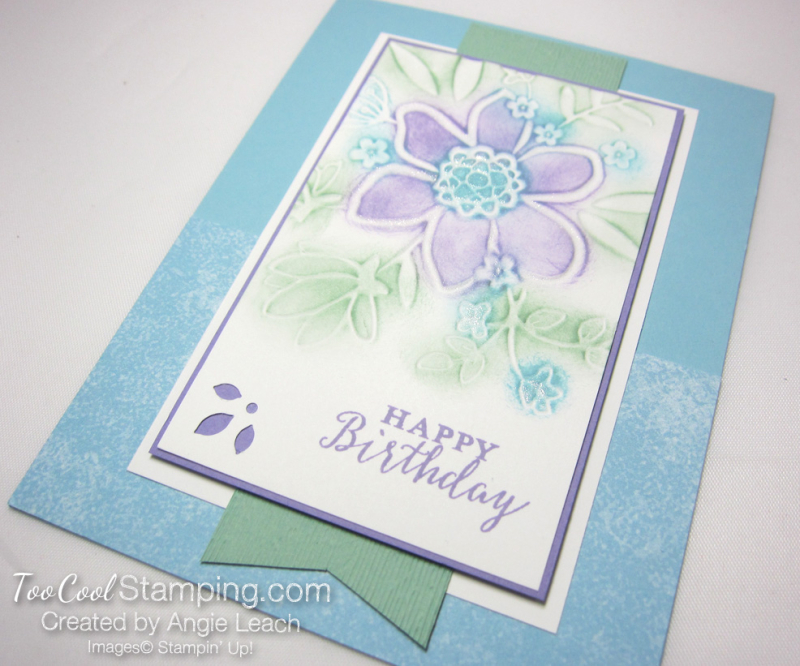 Lovely floral sponged 2 - blues
