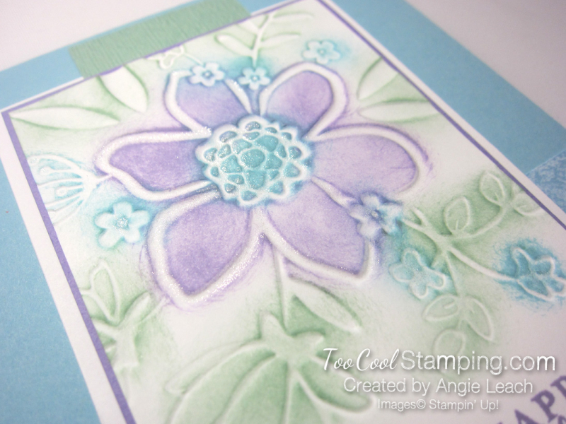 Lovely floral sponged 3 - blues