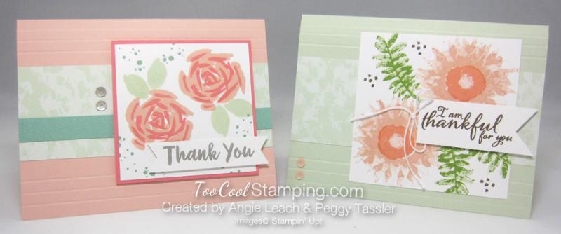 Petal pink sea foam two flowers - angie peggy