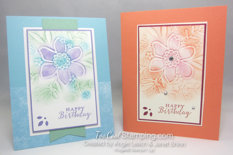 Lovely floral sponged - two cool