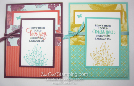 Tea Room Pocket Fold Cards - two cool