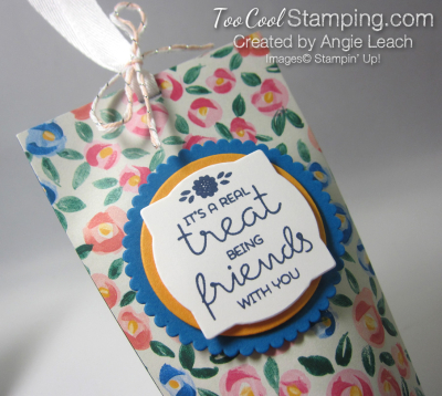 Mini square bottom treat pouch - small flower 2
