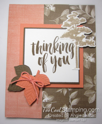 Natures poem fun fold card - suede 1