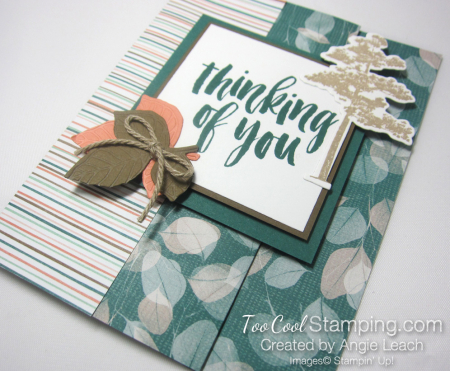 Natures poem fun fold card - tranquil 2