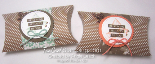 Be Strong Pillow Boxes - two cool