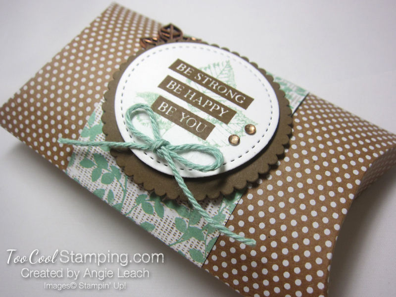 Be Strong Pillow Boxes - mint 1