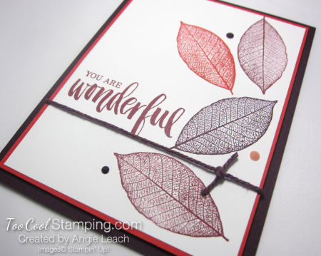 Rooted in nature falling leaves - merlot 3.5