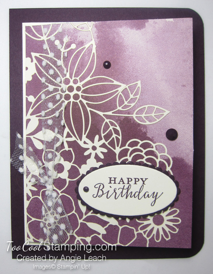 Delightfully detailed note card cards - blackberry