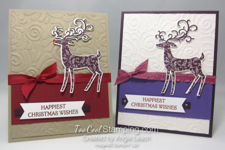Dashing deer swirls - two cool