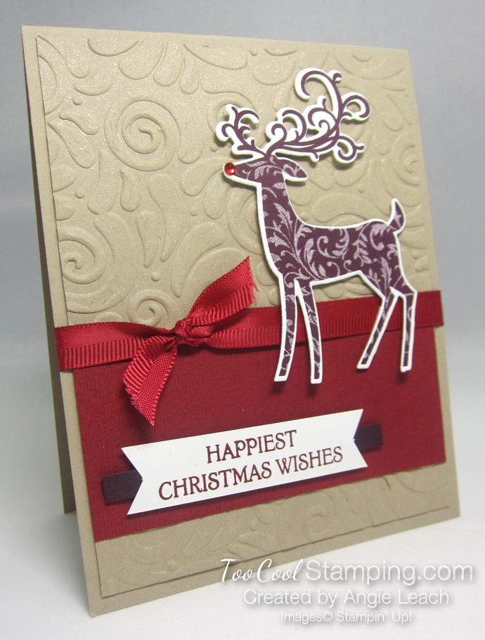 Dashing deer swirls - reds 1