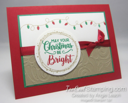 Bright christmas bulb strand - red 2