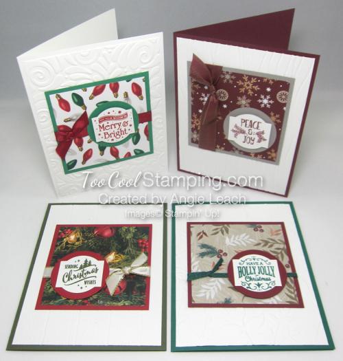 Paper sampler cards - 4 cool