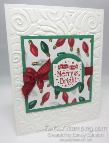Paper sampler cards - merry & bright