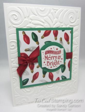 Paper sampler cards - merry & bright