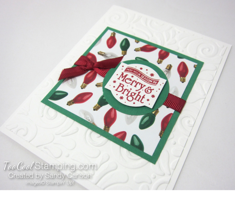 Paper sampler cards - merry & bright 2