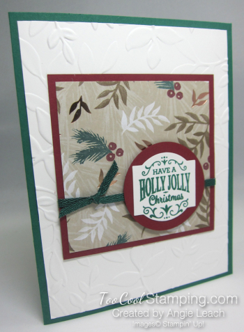 Paper sampler cards - holly jolly