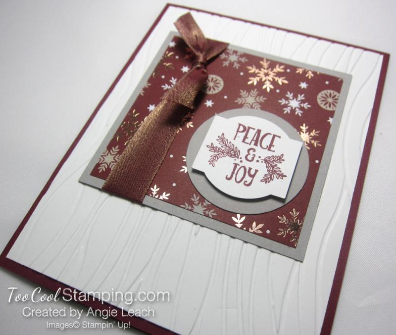 Paper sampler cards - peace & joy 2
