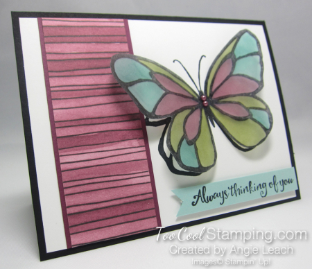 Beautiful Day Vellum Butterfly - razzleberry
