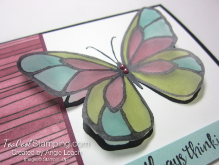 Beautiful Day Vellum Butterfly - razzleberry 4