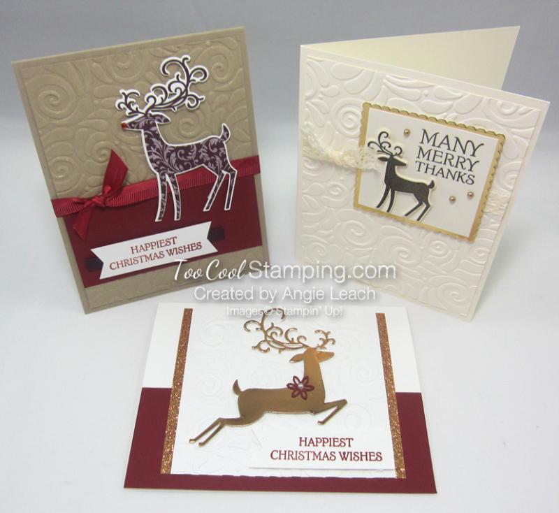 Dashing Deer - 3 cool cards