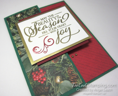 Making Christmas Bright half front - pine 2