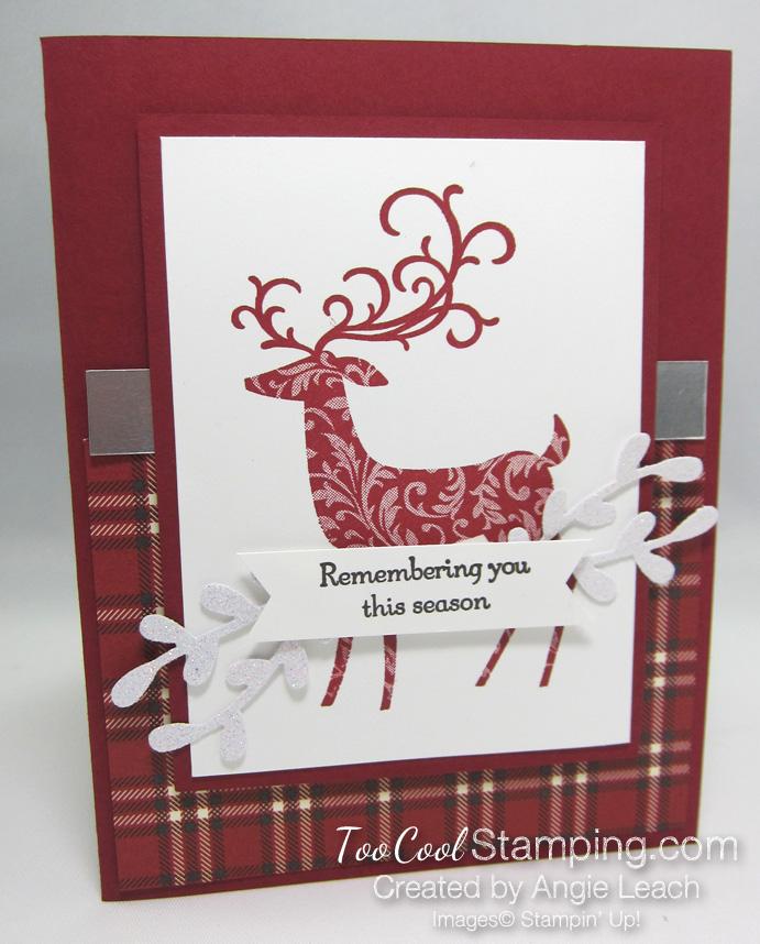 Dashing deer - angie red gingham 1