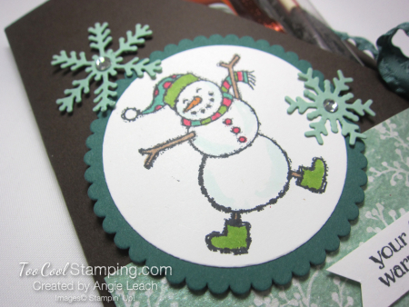 Spirited snowman hot cocoa pouches - tranquil tide 3
