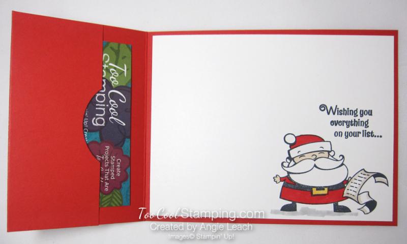 Quick & easy gift card holder - santa 3