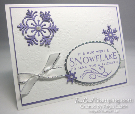 Beautiful Blizzard White Snowflake Hugs - heather 1