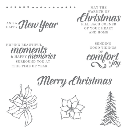 Timeless tidings stamp set 148936G
