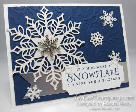 Snowfall swirls blizzard - navy 1
