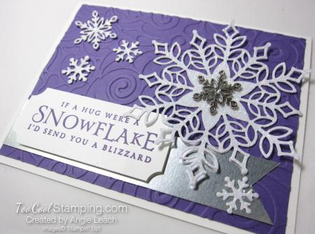 Snowfall swirls blizzard - grape 2